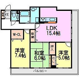 アミング潮江ウエスト弐番館[12階]の間取り