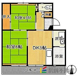 ビレッジハウス甘木2号棟[3階]の間取り