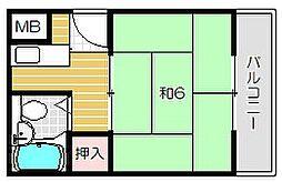 プレアール蔵垣内II[2階]の間取り