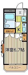 カ−サベルデ[2階]の間取り