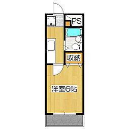 さわらびマンション[502号室]の間取り