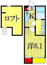 ローレルハウス大久保[2階]の間取り