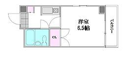 ロイヤルハウス横川[403号室]の間取り
