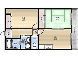 ドエルアサノ[4階]の間取り