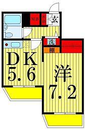 東京都葛飾区堀切8丁目の賃貸マンションの間取り