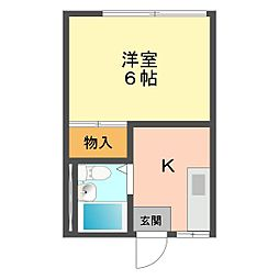 東京都葛飾区細田5丁目の賃貸アパートの間取り