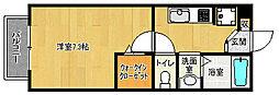 京都府八幡市上奈良城垣内の賃貸アパートの間取り