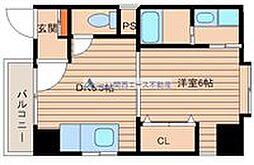 コンチネンタル真田山東[2階]の間取り