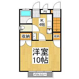 カーサマサキE棟[1階]の間取り