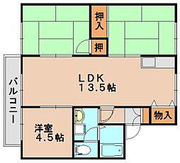 オブジュダールシバタ[2階]の間取り