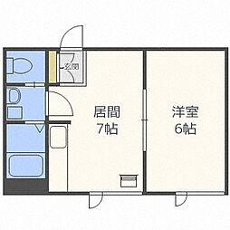 米塚ビル[1階]の間取り