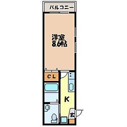 HIRANO BASE[3-D号室]の間取り