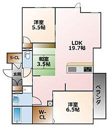 リラサーレ甲子園高潮町[2階]の間取り