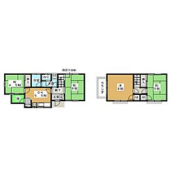 JR山手線 目黒駅 徒歩9分の賃貸一戸建て 2階4DKの間取り