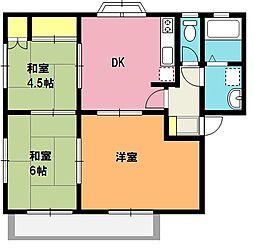 埼玉県上尾市弁財1丁目の賃貸アパートの間取り