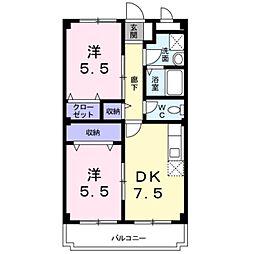 湘南第一ホ−ワマンション[1階]の間取り