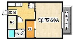 京都府京都市山科区大塚丹田の賃貸アパートの間取り