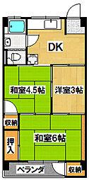 待兼山荘[3階]の間取り