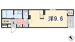兵庫県姫路市市之郷の賃貸マンションの間取り