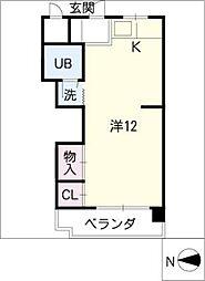 ロイヤルフラット松屋町[2階]の間取り