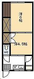 福富アパート(高洲町)[202号室]の間取り