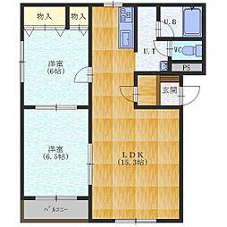 マンションビューティー[2階]の間取り