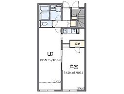 JR赤穂線 播州赤穂駅 徒歩20分の賃貸アパート 1階1LDKの間取り
