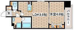 阪急神戸本線 王子公園駅 徒歩6分の賃貸マンション 7階1LDKの間取り