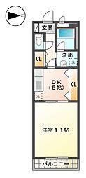 ドリームサポート岩崎[3階]の間取り