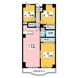 RIALTO・PALECE[3階]の間取り
