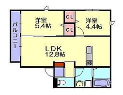 ネクストシティ桜丘[1階]の間取り