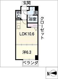 H・F名駅北レジデンスWEST[14階]の間取り