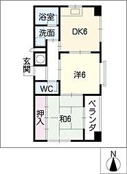 MK 平安[7階]の間取り