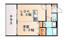 仮)タウンハイツ山田[1階]の間取り
