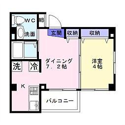 沢之町マンション[403号室]の間取り