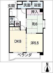 マンション ベルエア[6階]の間取り