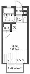 クレスト新宿[103号室]の間取り