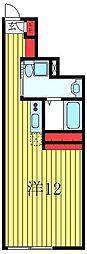 フロンティアコンフォート板橋ときわ台 4階ワンルームの間取り