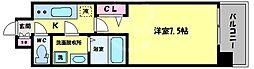 S-RESIDENCE福島Grande(エスレジデンス福島グランデ) 8階1Kの間取り