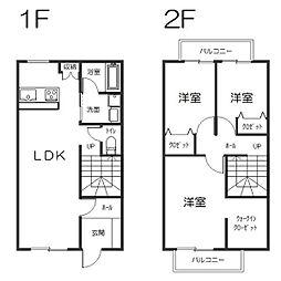 [テラスハウス] 愛知県長久手市片平1丁目 の賃貸【/】の間取り