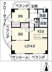 FORM GP NORTH[3階]の間取り