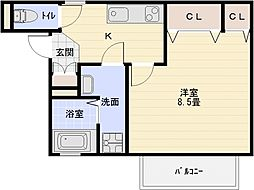 サニーハウス法善寺[2階]の間取り
