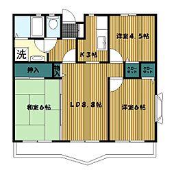 ジュネラス横浜[203号室]の間取り
