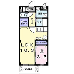 ラ・プア・マウイ[2階]の間取り