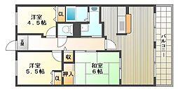 学園シティコート[8階]の間取り
