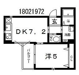 トーシン山坂[3階]の間取り