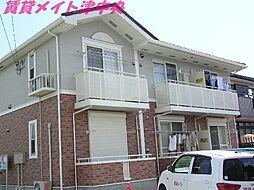 三重県津市美川町の賃貸アパートの外観