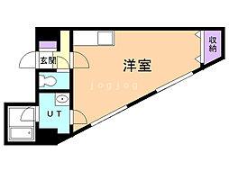 第6松屋ビル 8階ワンルームの間取り
