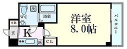 Osaka Metro御堂筋線 新大阪駅 徒歩9分の賃貸マンション 4階1Kの間取り