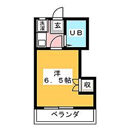 白羽根ビレッジ[3階]の間取り